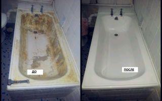 Как обновить чугунную ванну в домашних условиях: нанесение новой эмали, заливка жидким акрилом, акриловый вкладыш