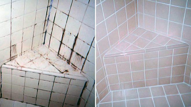 Удаление плесени в ванной