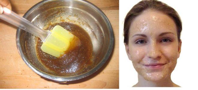 Сахарный скраб для лица и тела