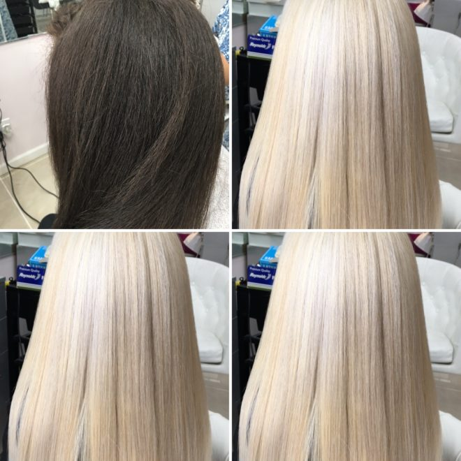 осветление и обесцвечивание волос
