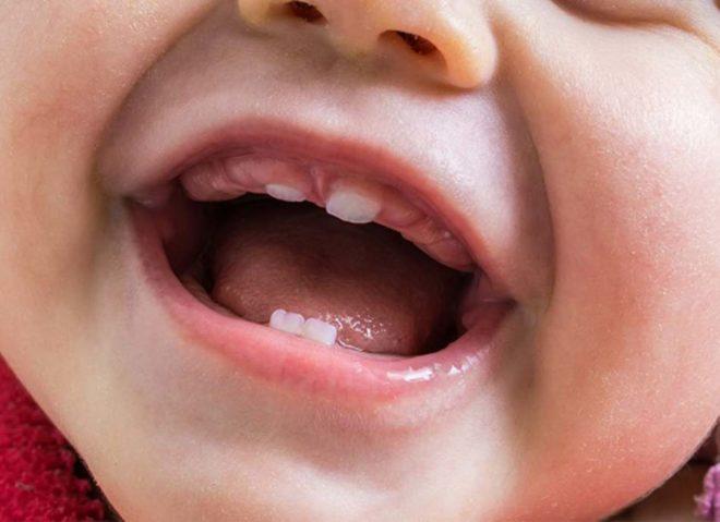 когда прорезаются первые зубы у младенцев